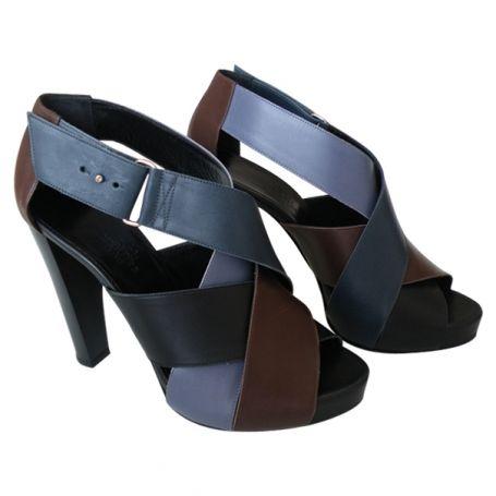 hermÈs sandals hermÈs multicolour size 38 fr in leather