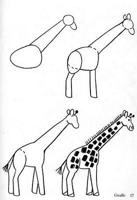 how to draw a giraffe #kids #zoo