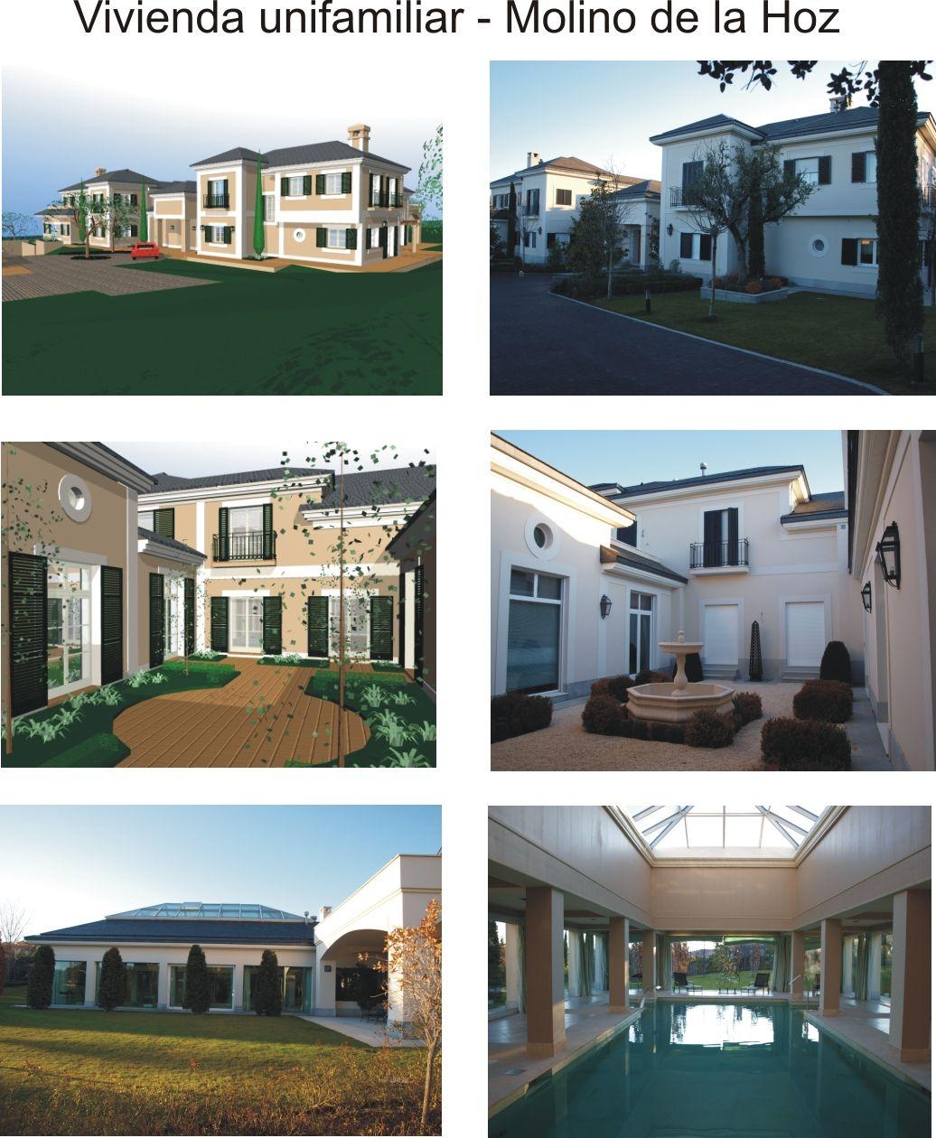 Casas contemporaneo exterior jard n piscina puertas for Decoracion exterior jardin contemporaneo