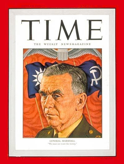 TIME Magazine Cover: General George C. Marshall - Mar. 25, 1946 - George Marshall - Army - Generals - Military