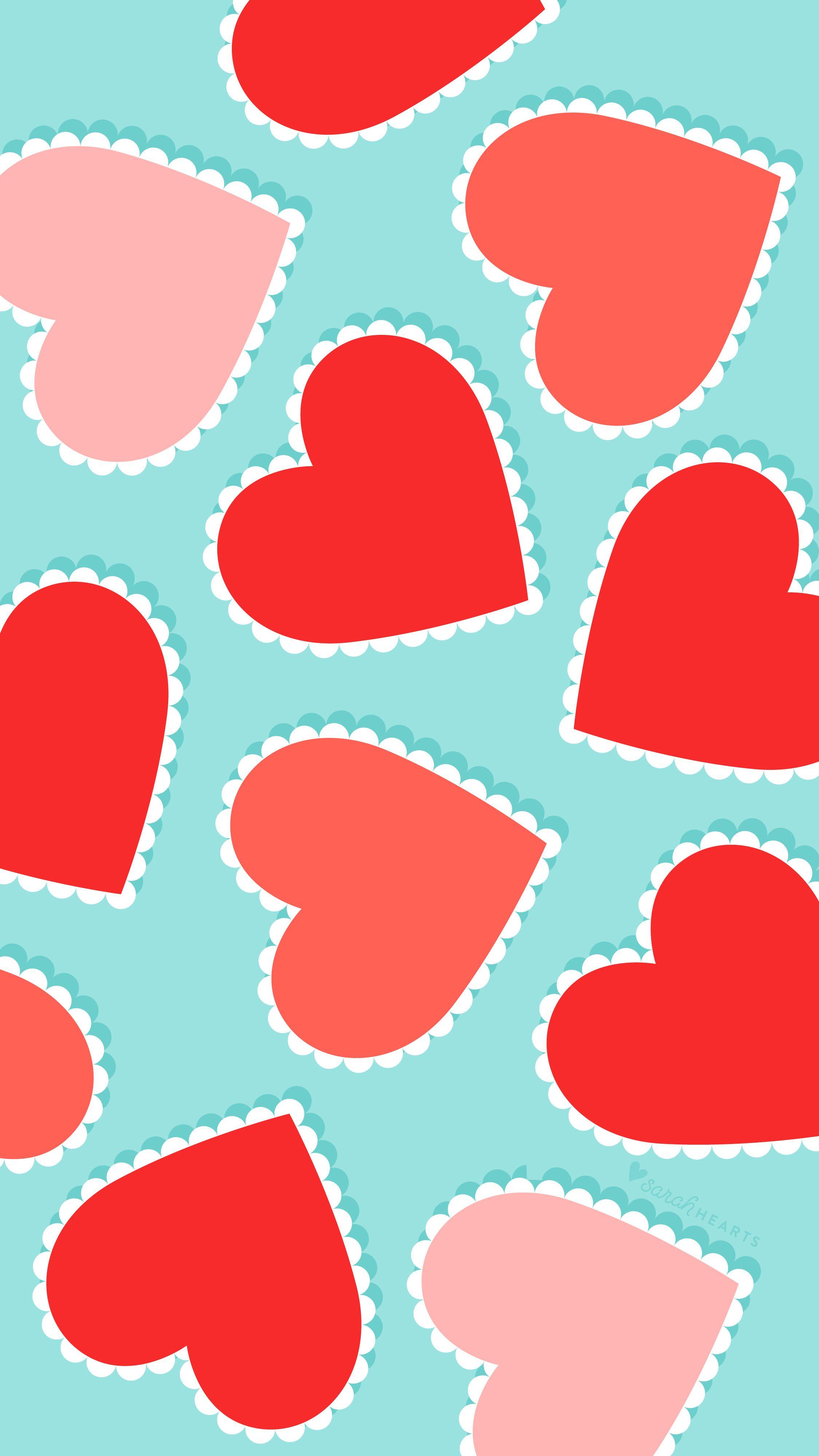 Free Scalloped Heart Valentine S Day Wallpaper Valentines