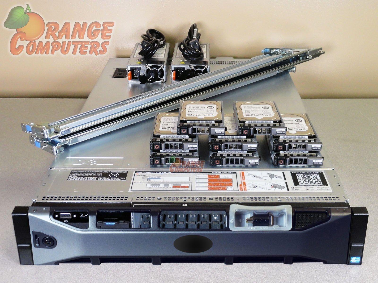 Dell R820 iDRAC Four E5-4617 6C2 9GHz 1024GB 6x 1 2TB 2x