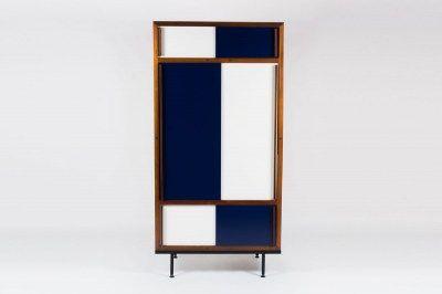 armoire-andre-sornay-bleu-blanc-acajou-galerie44-1 | Mobilier ...