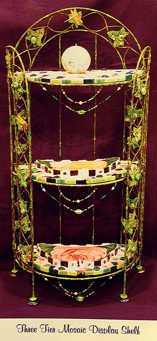 Mosaic Shelf Stand by Judi Neckritz / Art Classes Md