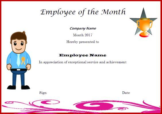 Employeeofthemonthtemplatewithpicture employee of the elegant and funny employee of the month certificate templates free printables demplates yadclub Choice Image