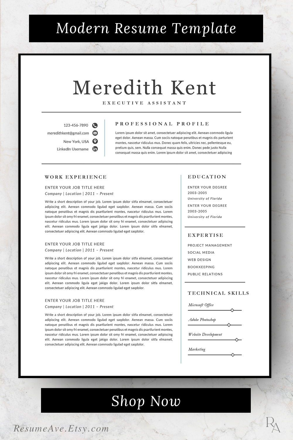 Classic traditional nurse resume template simple executive