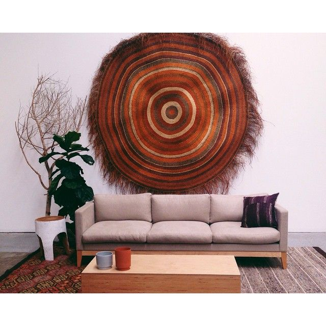 Oval Rugs Hang a round rug ucThis is the most wow wall art I uve