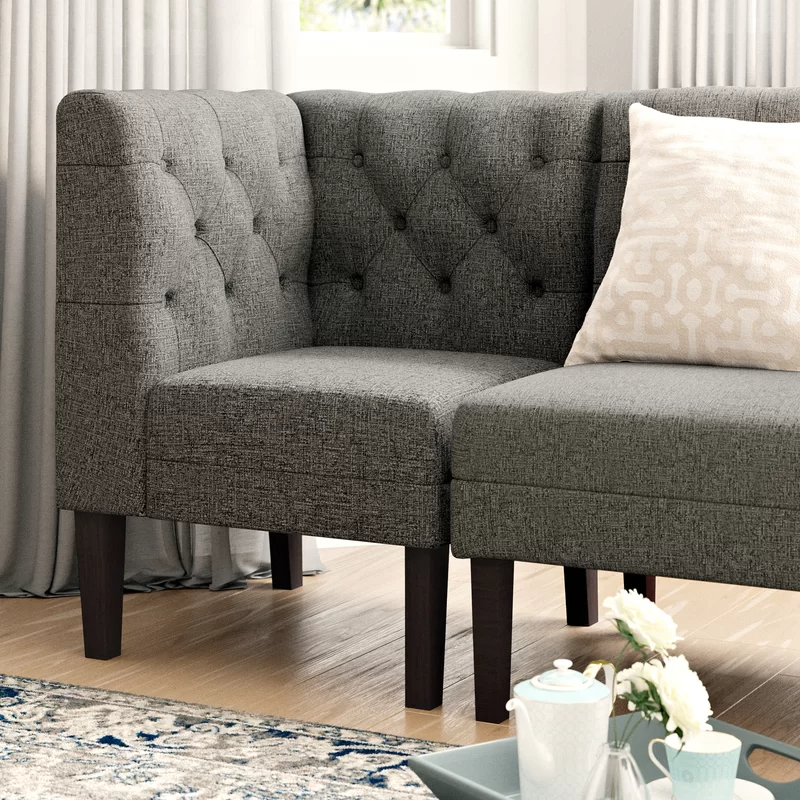 Winston Porter Amiyr Upholstered Bench Reviews Wayfair In 2020 Upholstered Bench Solid Wood Dining Chairs Furniture #sitting #bench #living #room