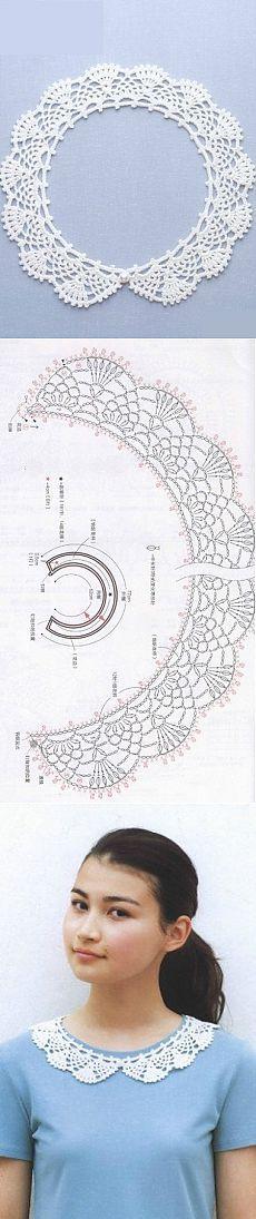 Cuello del cordón del ganchillo