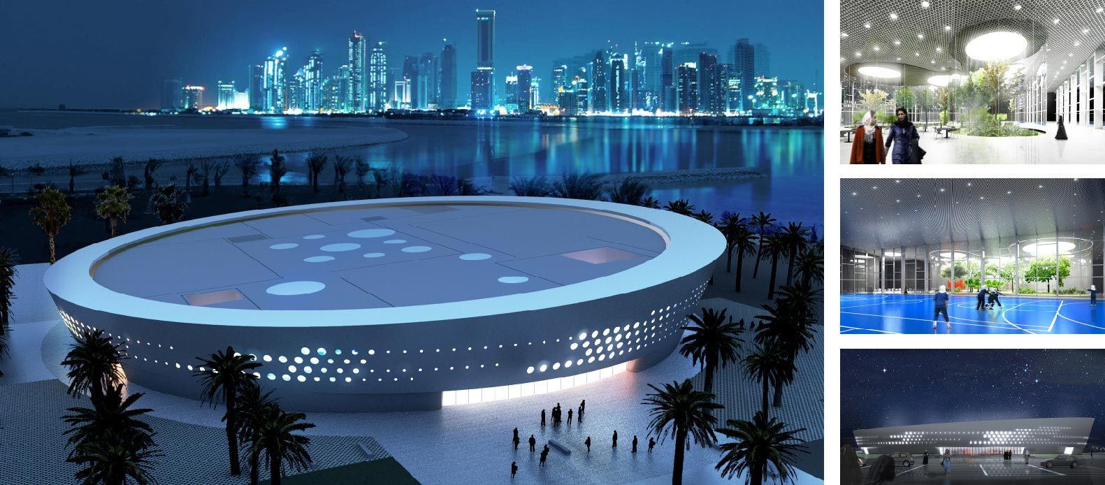 Ladies Sports Centre in Doha, Qatar - Fenwick Iribarren Architects