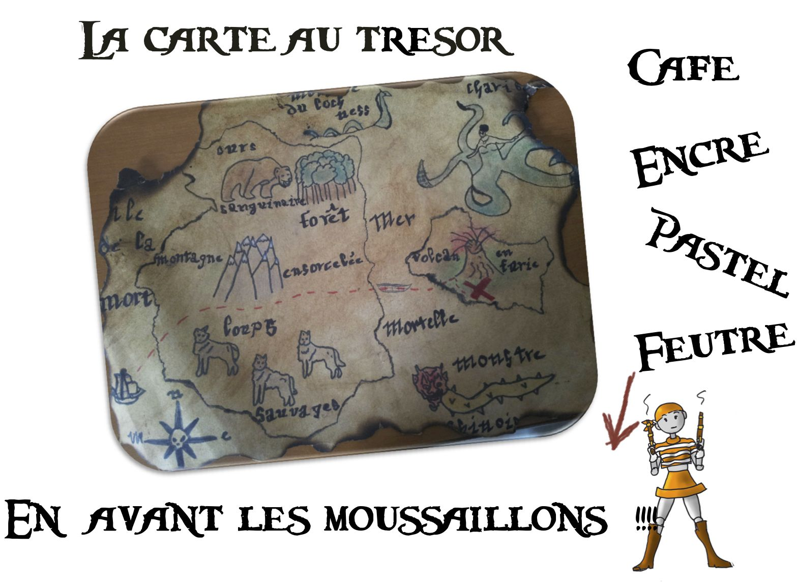 Carte Au Tresor Ce1.Projet Pour Petit Ou Grand Mintak Sablonok Carte Au