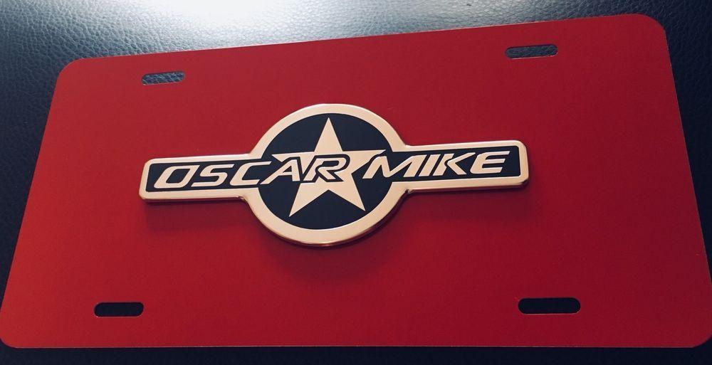 Custom 3d Oscar Mike Jeep Wrangler License Plate Free Shipping Ebay Oscar Mike Jeep Jeep Wrangler Custom License Plate