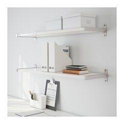 EKBY TONY / EKBY BJÄRNUM Seinähylly, korkeakiilto valkoinen, alumiini - 119x28 cm - IKEA