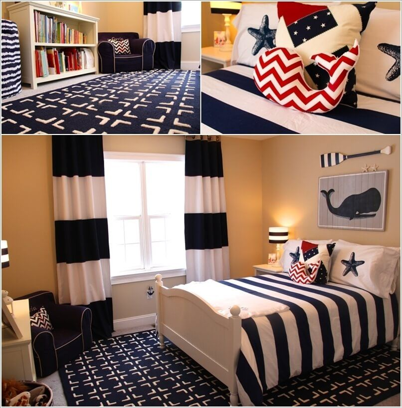 Create a Mix of Sailor Blue/Red and White Nautical Prints