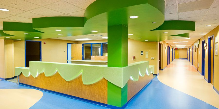 University Of Missouri Children S Hospital 5th Floor Pediatric And Adolescent Unit What We Do Simon Oswald Architectur Hospital Design Hospital Pediatrics