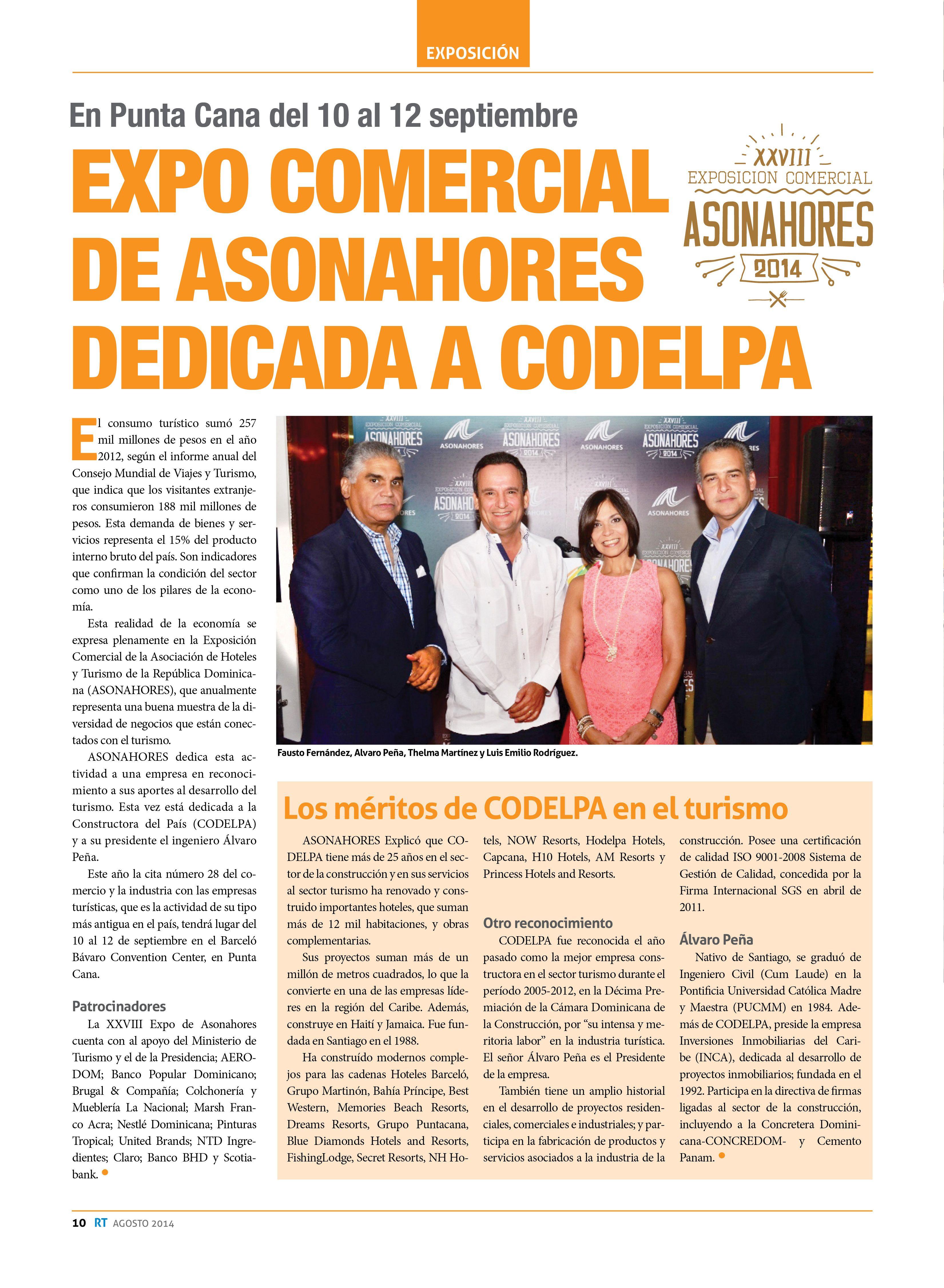 Expo Comercial De Asonahores Dedicada A Codelpa Shopping