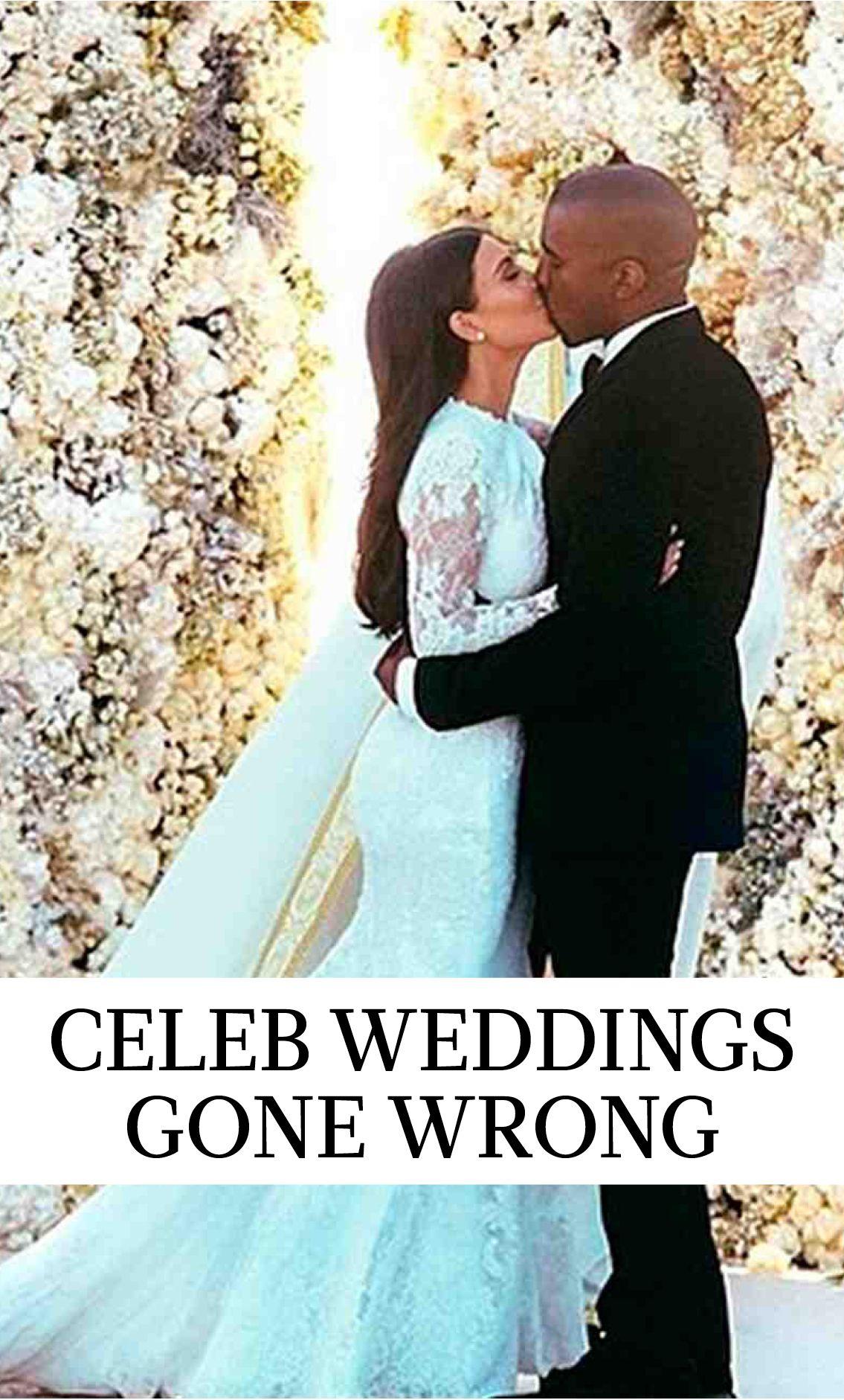 16 Celebrity Weddings Gone Wrong Kardashian wedding, Kim