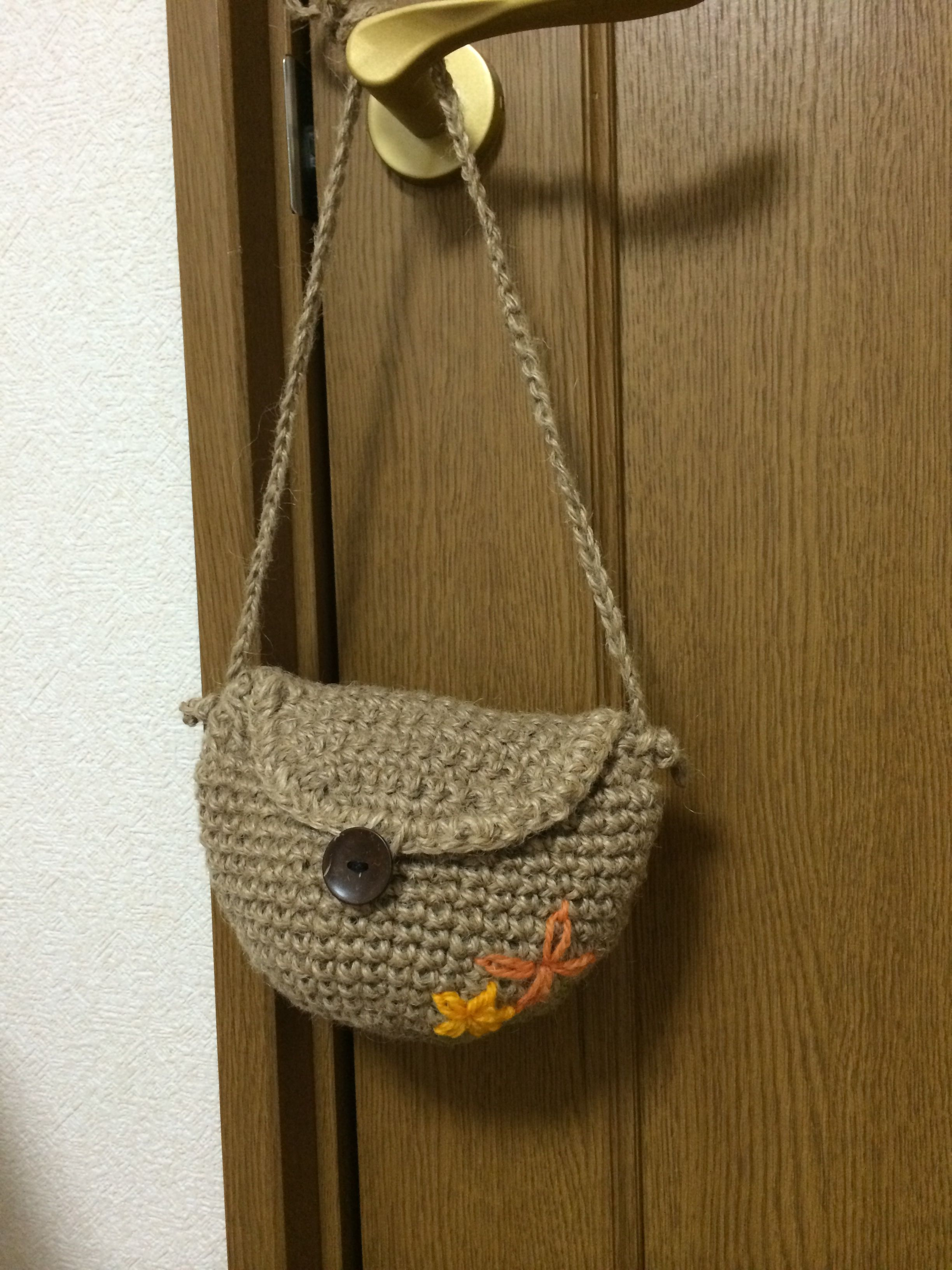 Hemp bag with flowers