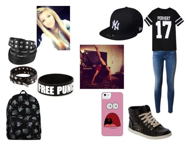 """""""Gangsta - Mac"""" by kayla10313 ❤ liked on Polyvore featuring New Era, Hudson, Replay and Good Work(s)"""