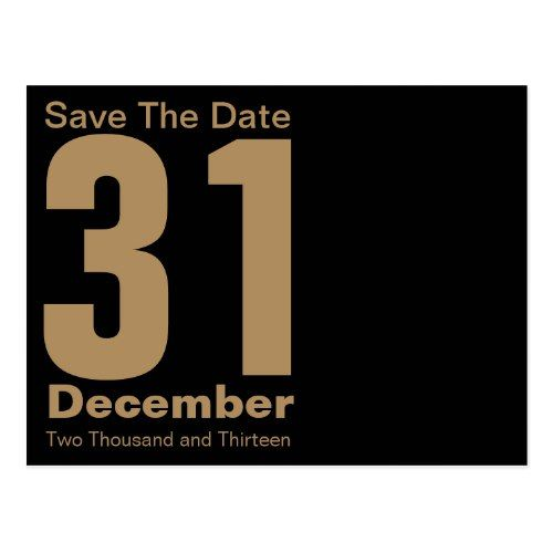 modern save the date postcard gold surprise birthday party ideas