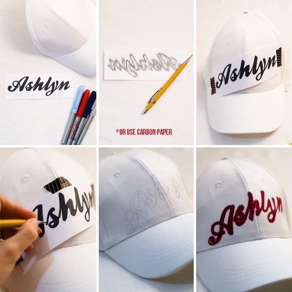 e347d997949a7 DIY Personalized Baseball Cap