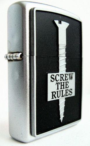 Screw the Rules Zippo Lighter