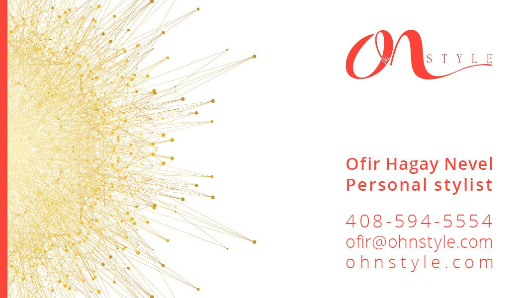 business #card #design for #personal #stylist #OhN #STYLE by ...