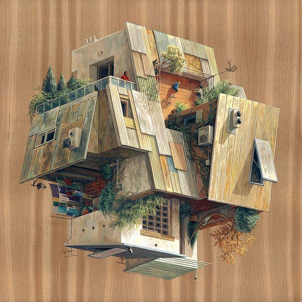Ordinaire Surreal Architectural Illustrations By Cinta Vidal Agulló | Illusnism |  Pinterest | Illustrations And Surrealism