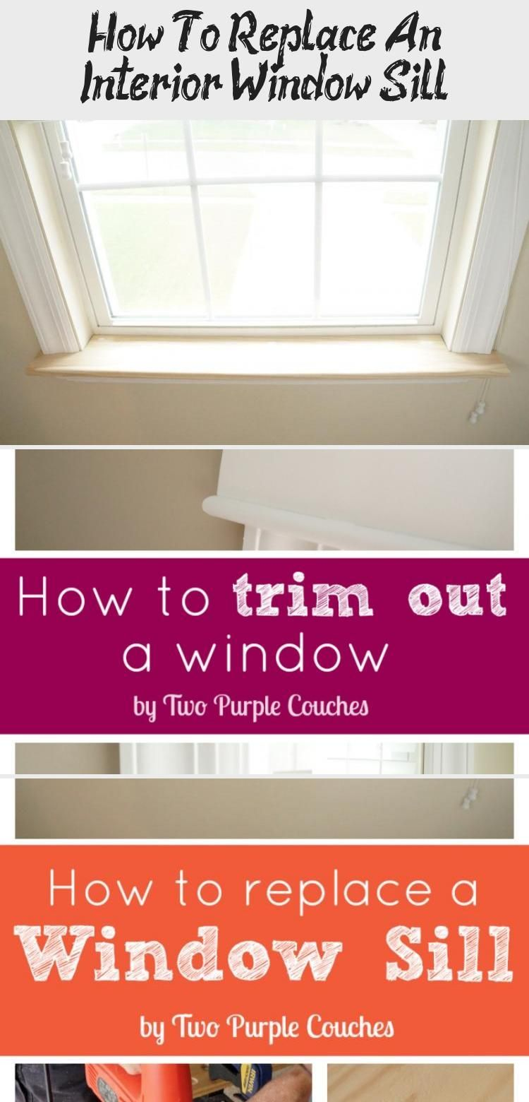 How to replace an interior window sill diy home