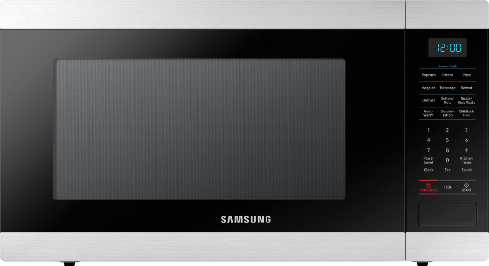 Samsung 1 9 Cu Ft Full Size Countertop Microwave With Sensor