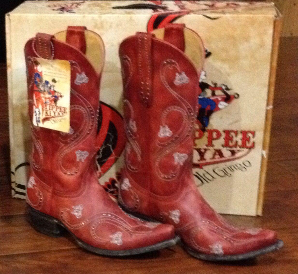 Red Old Gringo Yippee Ki Yay Angelina Cowboy boots