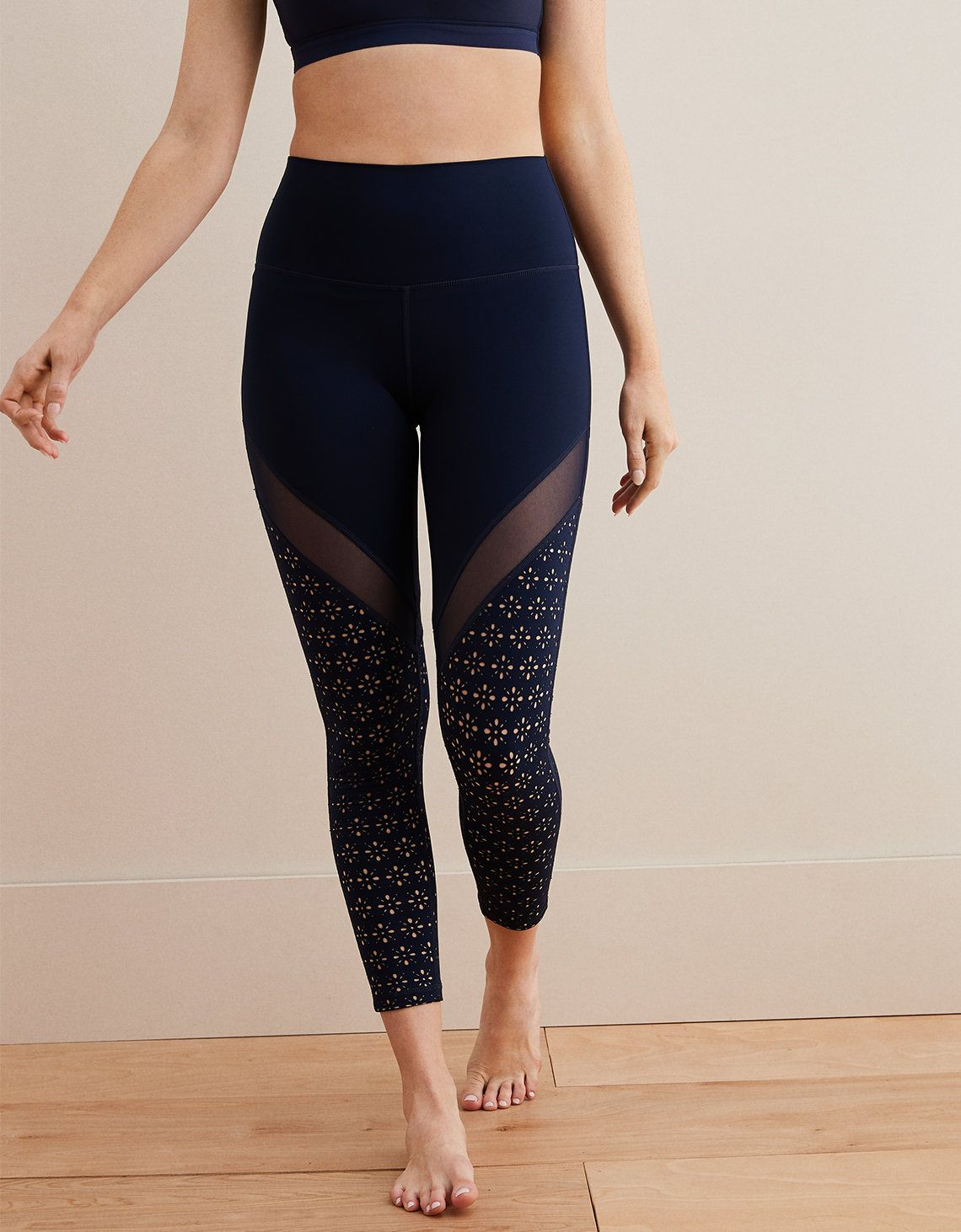 f11f7086f8955 Aerie Move High Waisted 7/8 Legging, Navy in 2019 | ACTUAL WISHLIST ...