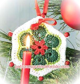 adornos de navidad al crochet tutorial crochet y dos agujas