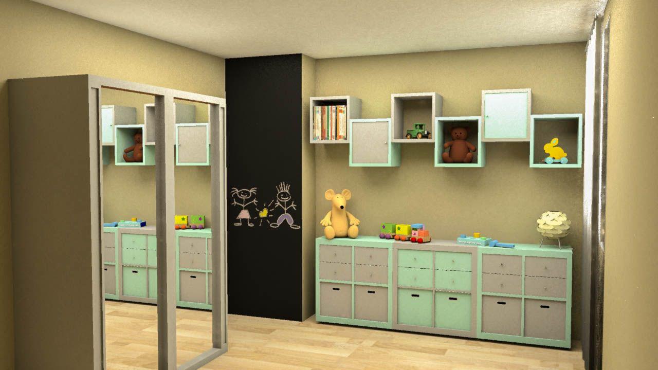 Partager une chambre d'enfants signifie intégrer suffisamment de rangement pour chacun deux tout en aérant un maximum la pièce. C'est la réalisation de notre #DecoratriceMeudon