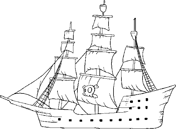 Pirate Ship Coloring Pages KidsfreecoloringNet  Free Download