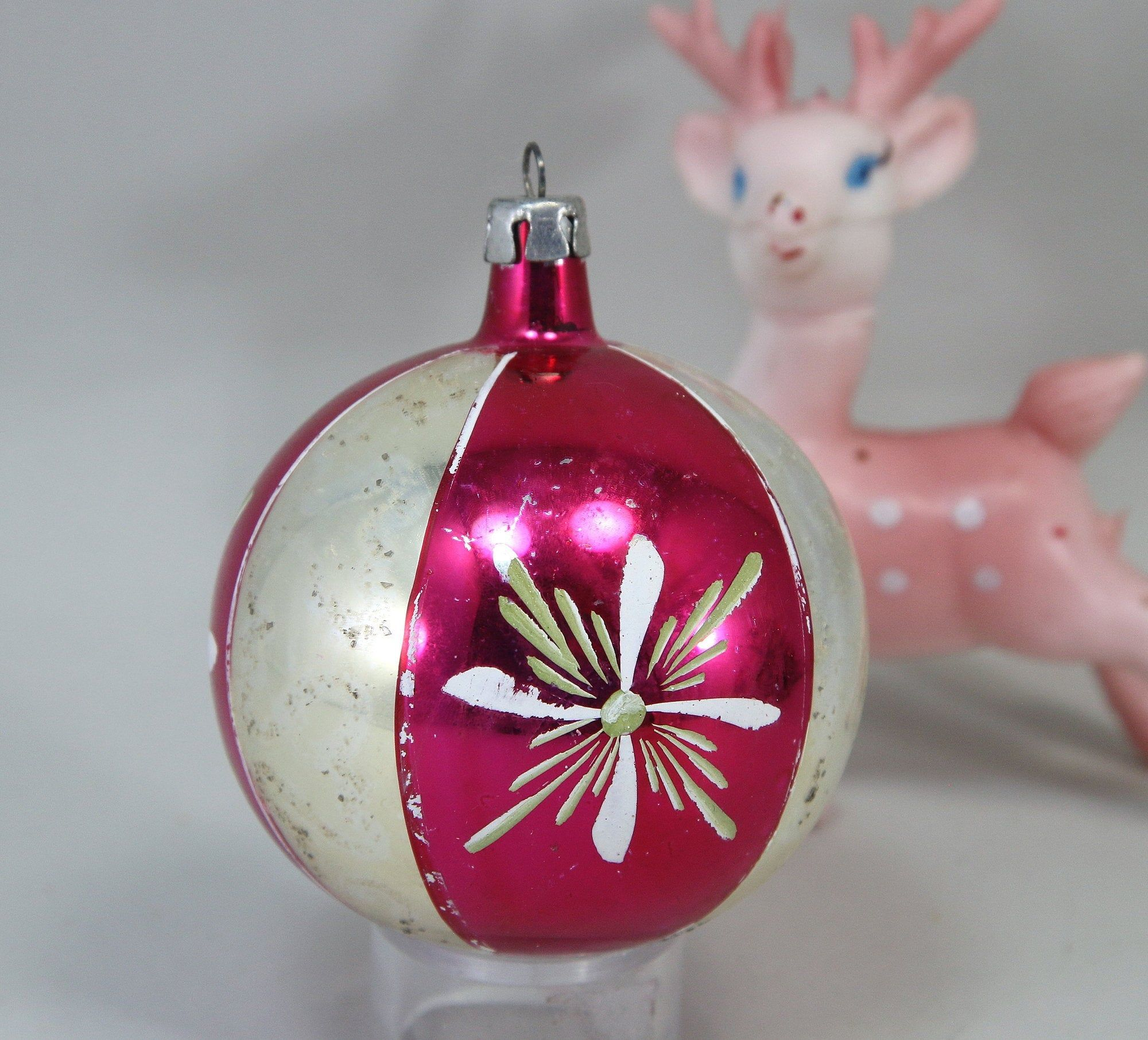 Vintage Hand Blown Poland Hand Painted Christmas Ornament Hot Etsy In 2020 Painted Christmas Ornaments Christmas Ornaments Hand Blown