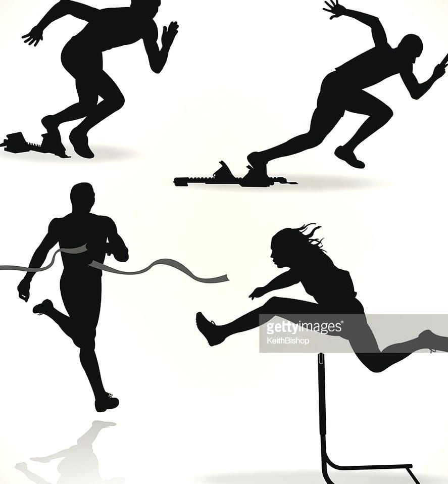 Vector Art Track And Field Runners Sprinter In 2020 Track And Field Sports Day Field Athletes