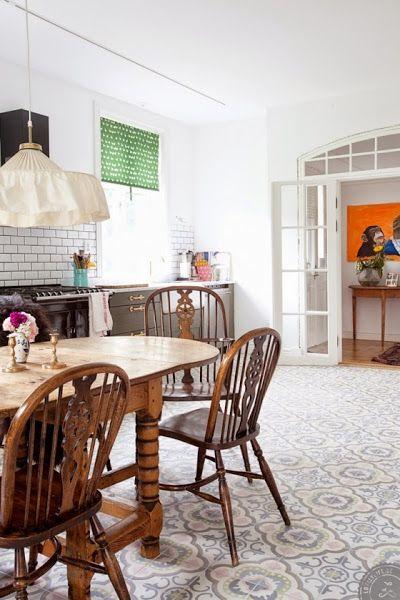 Kitchen Floors Cocinas Con Suelo Hidraulico Cocina De Color