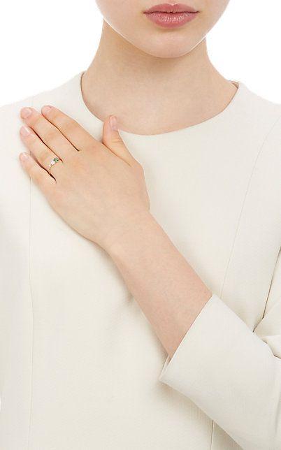 Emerald & yellow-gold chain ring Loren Stewart 0tUmM1ldxn