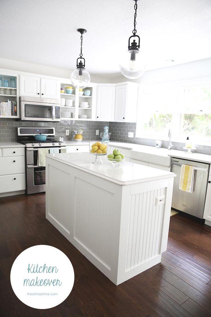 Best White And Grey Kitchen Makeover Gray White Kitchen 400 x 300
