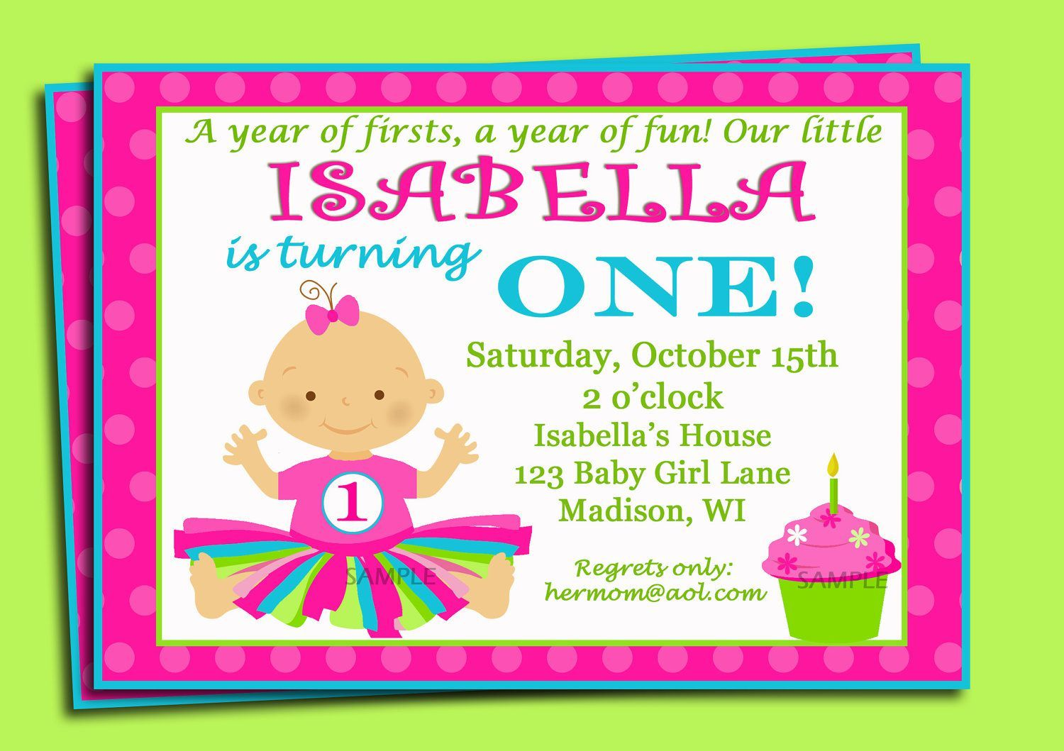 First Birthday Invitation Wording Birthday invitations