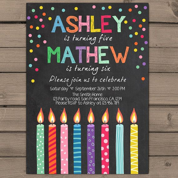 Joint birthday invitation joint birthday party invitation candles joint birthday invitation joint birthday by anietillustration stopboris Choice Image