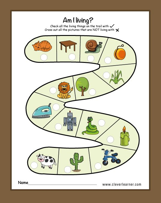 Living things and nonliving things activity worksheets