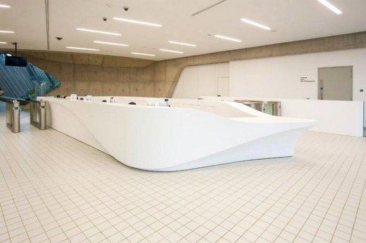 Zaha Hadid London Aquatics Centre Interior Work With