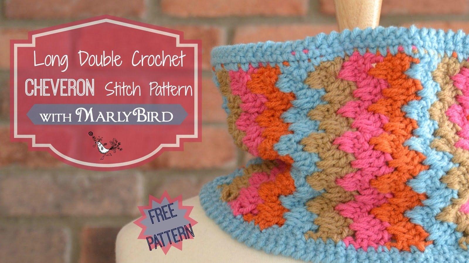 How To Crochet Long Double Crochet Chevron Stitch Pattern