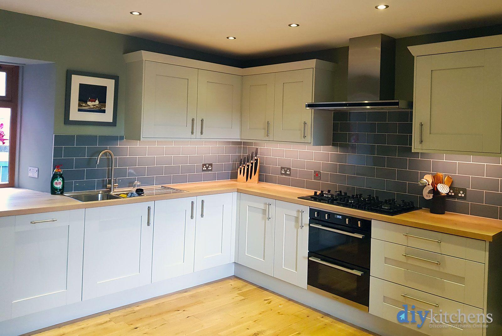 An Malton Dove Grey Oak Effect Shaker Kitchen Cheap