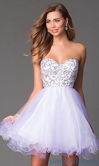 Short Strapless White Cocktail Dresses