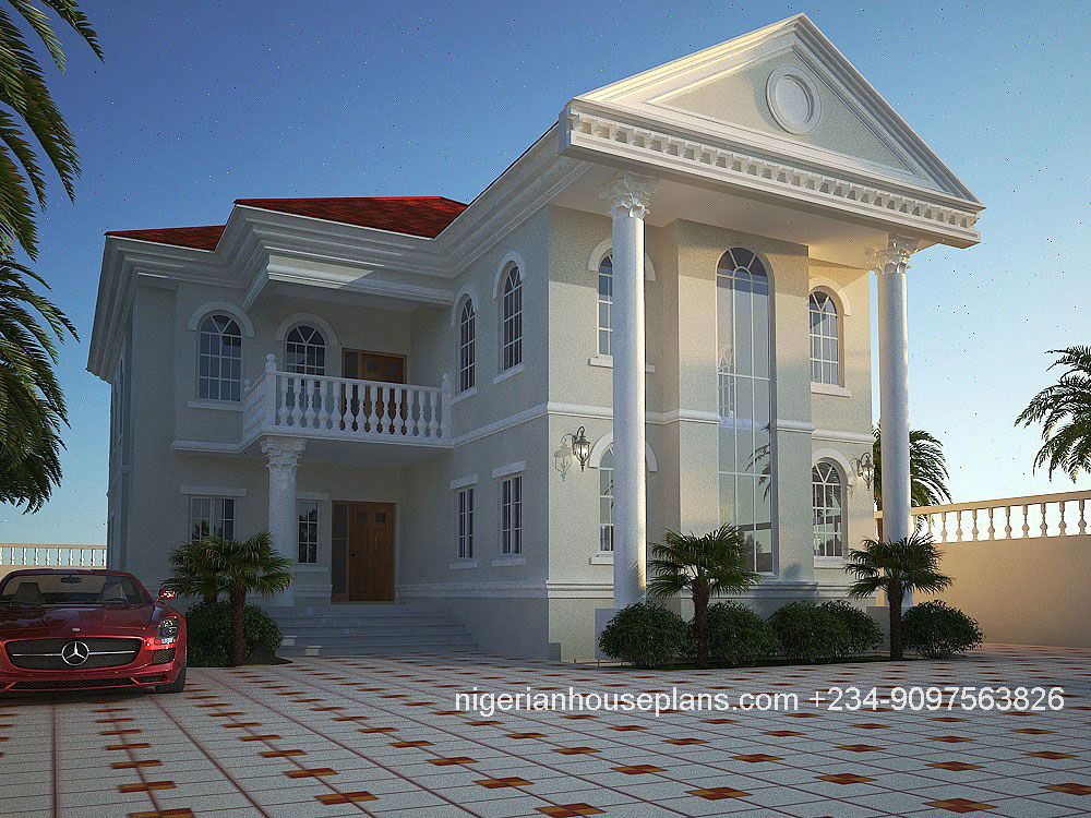Nigerian House Plans 4 Bedroom Duplex 4026