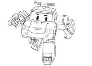 Robocar poli coloriage robocar robocar poli coloring sheets coloring pages - Coloriage robot car polly ...