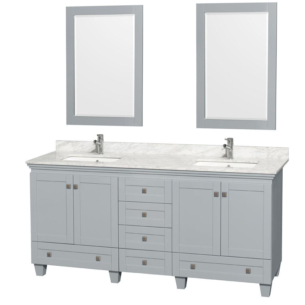 Wyndham Collection Acclaim 72 In W X 22 In D Vanity In Oyster